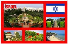 ISRAEL - RECUERDO ORIGINAL IMÁN DE NEVERA - MONUMENTOS / CIUDADES - NAVIDAD