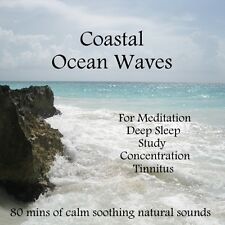NATURAL SOUNDS CD- COASTAL OCEAN WAVES RELAXATION MEDITATION SLEEP STRESS SPA
