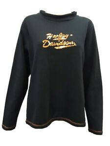 Harley Davidson Sweater Pullover Sequined Embriodered Grand Canyon Bellemont XL