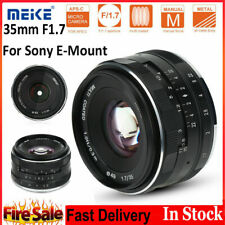 Meike APS-C 35mm F1.7 Manual Prime Lens for Sony SLR E Mount Mirrorless Camera