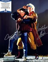 "MICHAEL J. FOX & CHRISTOPHER LLOYD Signed 11X14 ""BACK TO THE FUTURE"" BAS #D55621"