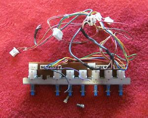 Yaesu FT-757 GX II used spares - F2557000 Button block, PWR...AGC