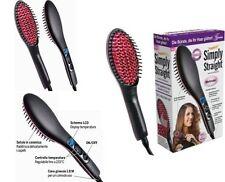 Spazzola elettrica ionica funziona come piastra per capelli lisci.Snoda,ceramica