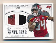 2014 National Treasures * CHARLES SIMS * Dual Patch Relic RC * #25/99