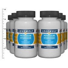 Potassium Hydroxide 23 Lb Total 6 Bottles Food Grade Fine Flakes Usa Seller