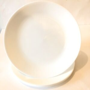 "Set Of 4 Corell Dinner Plates White 10"" Diameter Made In USA EUC"