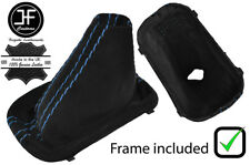 BLUE STITCH AUTOMATIC DSG SUEDE GEAR BOOT PLASTIC FRAME FOR VW SCIROCCO 08-17