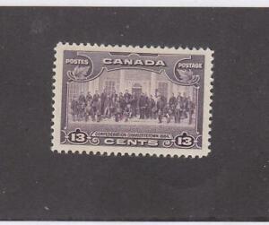 CANADA (MK6191) # 224 VF-MLH  13cts 1935 CHARLOTTETOWN / VIOLET CAT VALUE $13