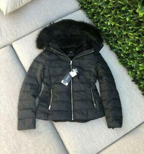 BNWT RRP$159 ZARA Hooded Duck Down Puffer Jacket Coat Navy Size M L XL XXL