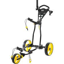 NEW IZZO Rover Golf Bag Push / Pull Cart - Black / Yellow