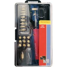 30W Pirograbado herramienta leña Craft woodburning Pen 21 consejos y soporte en caso