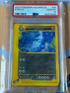 2003 Pokemon Aquapolis Steelix #35 PSA10 GEM MT