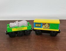 Thomas the Train and Engine & Friends Wooden Sodor Zoo Cars Lion Hippo