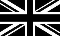 3x5 inch BLACK JACK Flag Sticker - decal london england uk britain british union
