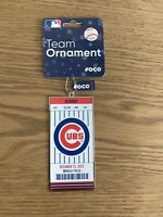 Chicago Cubs Christmas Ornament Wrigley Field Ticket Stub NEW