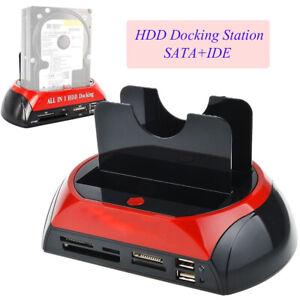 HDD Docking Station Dual USB 2.0 2.5 / 3.5 Zoll IDE SATA externe Festplatte DHL