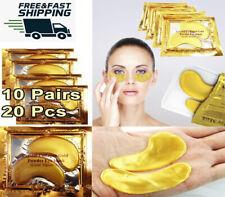 Crystal Collagen 24k Gold 10 Pair Under Eye Gel Pad Face Mask Anti Aging Wrinkle