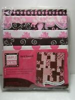 """Pink & Brown Quilt Kit by Simple Quilts 48"""" x 56"""" - NEW"""