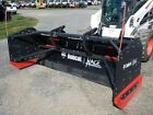 NEW BOBCAT 96' PRO SNOW PUSHER FOR SKID STEERS, HYD ANGLE & TILT, QUICK ATTACH