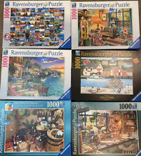 Lot Of 6 1000 Piece Ravensburger Puzzles Preowned