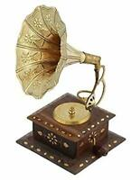 Antique Collectible Vintage Show Piece Hand Crafted Gramophone Phonograph Decor