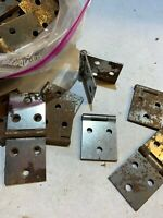 """Stanley heart HEAVY Steel Hinges Huge lot 78pc Cabinet USA 1.5"""" X 3.5"""" old stock"""