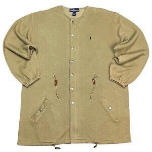 RARE Vtg POLO Ralph Lauren Equestrian Riding Sweater Jacket NEW L/XL Earth Tone
