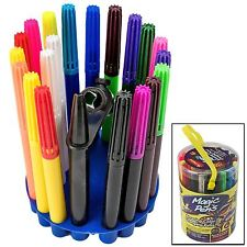 Kids 20pc Magic Pens Amazing Color Changing Pens Set Stencils Blow Pen Fun Art