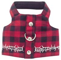 Black and Red Buffalo Plaid Dog Harness Vest Style by Doggles.
