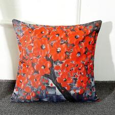 Flower Tree Linen Pillow Case Waist Back Throw Cushion Cover Home Sofa Decor Hot 14