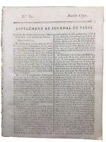 Parc de Sceaux en 1791 Corancez Penthièvre Journal Révolution Française