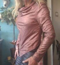 Muubaa Matar Bronze Leather Drape Coat/Jacket Special Collection sz 10/6/38