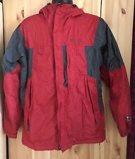 COLUMBIA GRT Omni Shield Mens Packable Hooded Jacket Coat Sz Medium Red/gray