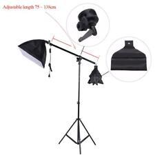Photo Studio Softbox Video Light Tripod Stand Boom Pole Holder Arm Sandbag Grip