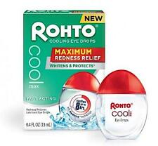 Rohto Cooling Eye Drops Max Redness Relief 13ml 0.4 Fl.oz. Fast FREEPOST in UK