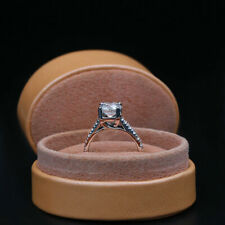 Ring .925 Sterling Silver Promise 1.4Ct Round Cut Moissanite Wedding Engagement