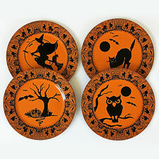 Restoration Hardware Halloween Vintage Style Tin Plates Set of 4