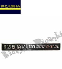 """1716 - TARGHETTA """" PRIMAVERA """" TELAIO POSTERIORE VESPA 125 PRIMAVERA"""