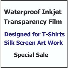 "Waterproof Color Separation Film for T-Shirt Printing 8.5"" x 11"" (100 Sheets)"
