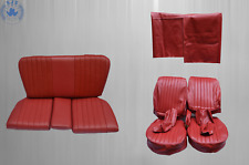 Mercedes Sl R / W107 Seat Covers + Back Seat, Red Package