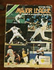 1979 Statis Pro Major League Game Of Professional Baseball Board Game