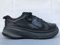 Hoka One One Bondi LTR Leather Running Athletic Shoes Black Mens Size 10 2E Wide
