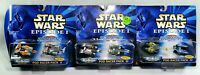 3 STAR WARS Micro Machines POD RACERS 2, 3, & 4 GALOOB 1998 Episode 1