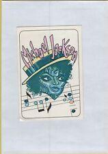 ADESIVO VINTAGE STICKER panini stickers figurine panini michael  jackson 1985