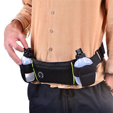 Running Jogging Cycling Belt Bag Waist Pack Pouch With 2 Water Bottle Holder