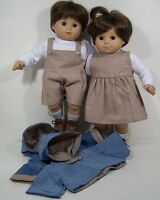 MATCHING Doll Clothes Coat Romper Dress Shirt For Bitty Baby Boy Girl Twin (Debs
