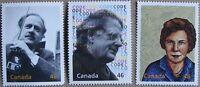 #1829a, b, d:  CANADA MNH 3 stamps from Hardbound Millennium Book