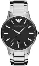 NEW EMPORIO ARMANI AR2457 MENS STEEL WATCH - 2 YEARS WARRANTY - CERTIFICATE