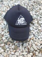 CAFE DE COLOMBIA 1980s Cycling Team Trucker Hat Cap Snapback Black