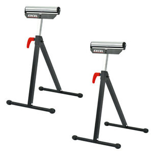 Excel Telescopic Workbench Roller Stand Adjustable Height Easy Storage Twin Pack